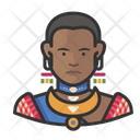 Traditional African Woman Avatar User Icon