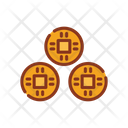 Traditional chinese coin Icon