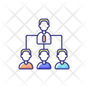 Traditional Company Structure Icon