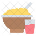 Food Bowl Glass Noodle Icon