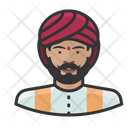 Traditional Indian Man Avatar User Icon