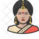 Traditional Indian Woman Avatar User Icon