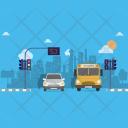 Traffic Light Background Icon