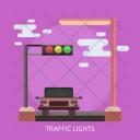 Traffic Lights Car Icon
