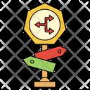 Traffic Direction Board Icon