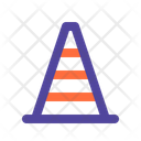 Cone Road Construction Icon