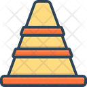 Traffic Cone Safety Barrier Icon
