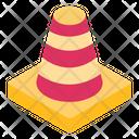 Conoid Construction Cone Traffic Cone Icon