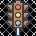 Traffic Light Stoplight Semaphore Icon