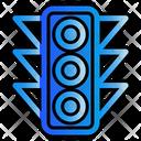 Traffic Light Navigation Location Icon