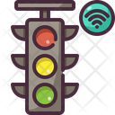 Traffic Light Wifi Domotics Icon
