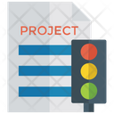 Traffic Light Project Project Management Management Report Icon