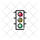 Traffic Light Yellow Icon