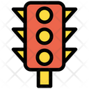 Traffic Signal Lights Red Yellow Green Icon