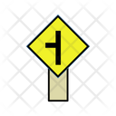 Traffic Merge From Left Icon