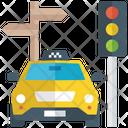 Traffic Navigation Automotive Navigation Guidepost Icon