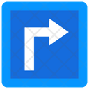 Traffic Turn Sign Icon