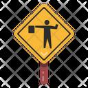 Traffic Warden Signage Road Post Traffic Board Icon