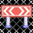 Traffic Warning Board Road Post Traffic Board Icon