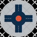 Traffice Four Way Icon