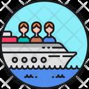 Trafficking Boat Boat Cruise Icon