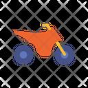 Trail Motorcycle Transportation Vehicle Icon