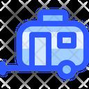 Adventure Travel Trailer Icon