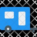Camping Trailer Caravan Icon