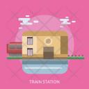 Train Station Building Icon