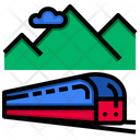 Train Transport Tunnel Icon