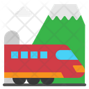 Train Transport Tunnel Icon