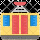 Train Yellow Luggage Icon