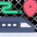 Train Location Maps And Location Icon
