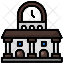 Train Station Transportation Building Icon