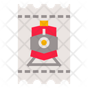 Railroad Railway Ticket Icon