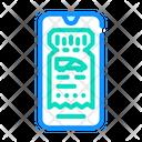 Train Ticket Electronic Ticket Icon