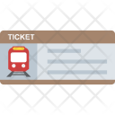 Train Ticket Traveling Icon