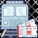 Railway Wagon Train Travel Railroad Icon