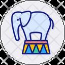 Trained Elephant Icon