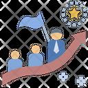 Trainer Leadership Teamwork Icon