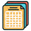 Training Schedule Table Icon
