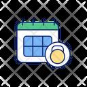 Tracker Calendar Routine Icon