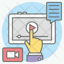Video Tutorial Video Lecture Video Lesson Icon