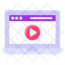 Training Videos Video Streaming Media Player Icon