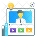 Training Videos Online Video Chat Video Lecture Icon