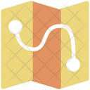 Trajectory Track Route Icon