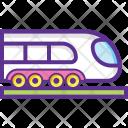 Tram Train Bullet Icon