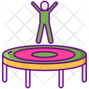Trampoline Jump Fun Icon