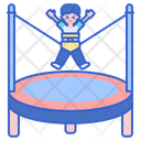 Trampoline Jumping Gymnastick Icon