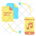 Imusic Files Tranfer Music File Transfer Music Document Icon